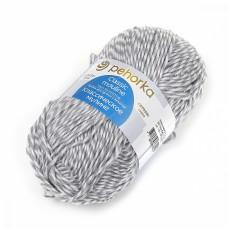 Пряжа для вязания ПЕХ Классическое мулине (30% шерсть, 70% ПАН) 5х100г/200м цв.0607 мул. белый/стальной