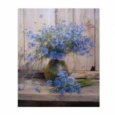 Картины по номерам Molly KH0659 Васильки (28 цветов) 40х50 см