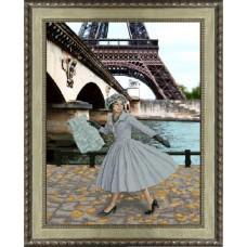 Набор для вышивания мулине КРАСА И ТВОРЧЕСТВО 31013 Опять в Париже листопад 30,5х40 см