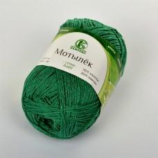 Пряжа для вязания КАМТ Мотылек (70% хлопок, 30% лавсан) 5х50г/140м цв.109 зел.яркий