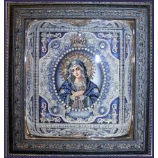 Набор для вышивания хрустальными бусинами ОБРАЗА В КАМЕНЬЯХ  7723 Богородица Умиление