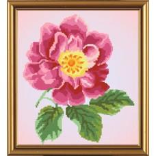 Рисунок на ткани бисер НОВА СЛОБОДА МАХ.БИС 3030  Цветок шиповника 26x32 см