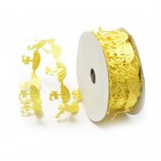 Ленты декоративные TBY.ЛДФ.XL-11.4 шир.20 мм цв.17 желтый уп.9,14 м