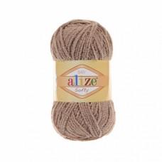 Пряжа для вязания Ализе Softy (100% микрополиэстер) 5х50г/115м цв.617 кофе с молоком