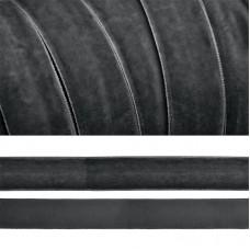 Лента бархатная TBY.LB2064 нейлон шир.20мм цв.т.серый уп.20м
