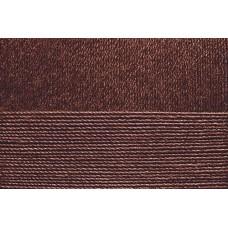 Пряжа для вязания ПЕХ Блестящее лето (95% мерсеризованный хлопок 5% метанит) 5х100г/380м цв.416 св.коричневый