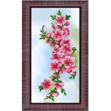 Рисунок на ткани бисером БЛАГОВЕСТ К-3556 Нежные цветочки