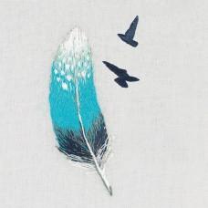 Набор для вышивания PANNA Живая картина  JK-2180 Перо 3х8 см