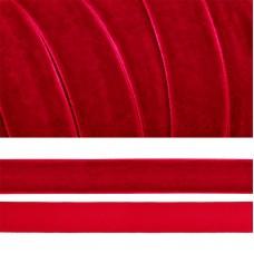 Лента бархатная TBY.LB2042 нейлон шир.20мм цв.т.красный уп.20м