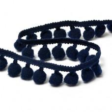 Тесьма с помпонами цв.S058 (120) глубокий синий TBY-LC-20 шир.15-20мм