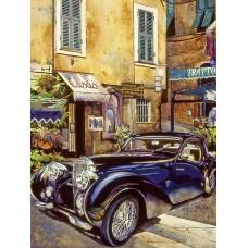 Картина по номерам с цветной схемой на холсте Molly KK0681 Бугатти 1939 г. 30х40 см