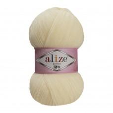 Пряжа для вязания Ализе Extra Life (100% акрил) 5х100г/480м цв.912 молочный
