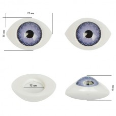 Глаза круглые выпуклые цветные TBY 21мм цв.фиолетовый уп.10шт