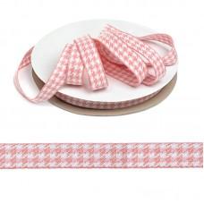Тесьма TBY декоративная Гусиные лапки DT03154 шир.15мм цв.04 розовый уп.22,9м