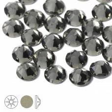 Стразы холодной фиксации Xirius 8+8 граней SS16 (3,8-4,0 мм) NH16-12 цв.Black Diamond, уп.100шт