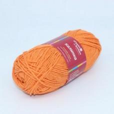 Пряжа для вязания ТРО Калинка (20% хлопок, 30% вискоза, 50% акрил) 5х100г/130м цв.1621 оранжевый