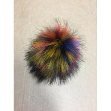 Помпон искусственный мех RUS.PIP48 Песец 17-18см цв.разноцветный А