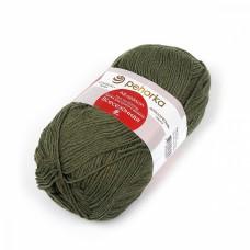 Пряжа для вязания ПЕХ Всесезонная (25% шерсть, 30% хлопок, 45%акрил) 5х100г/320м цв.013 т.оливковый