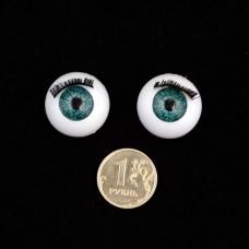 Глаза TBY.TR-22 с ресницами цв.зеленый уп.10шт