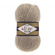 Пряжа для вязания Ализе Angora Real 40 (40% шерсть, 60% акрил) 5х100г/480м цв.152 беж меланж