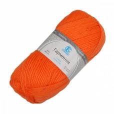 Пряжа для вязания КАМТ Гармония (50% импортная п/т шерсть, 50% акрил) 5х100г/245м цв.068 апельсин