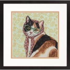 Набор для вышивания DIMENSIONS DMS-70-35395 Мама-кошка 28x28 см