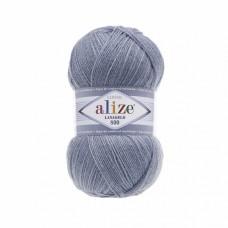 Пряжа для вязания Ализе LanaGold 800 (49% шерсть, 51% акрил) 5х100г/800м цв.221 св.джинс