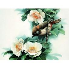 Картины мозаикой Molly KM0937 Птица на ветке 15х20 см