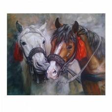 Картины по номерам Molly KH0684 Красивые лошади (20 цветов) 30х30 см