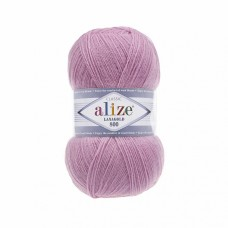 Пряжа для вязания Ализе LanaGold 800 (49% шерсть, 51% акрил) 5х100г/800м цв.098 розовый