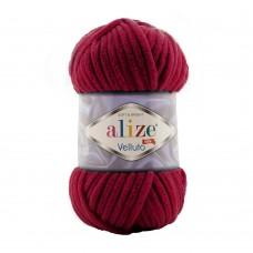 Пряжа для вязания Ализе Velluto (100% микрополиэстер) 5х100г/68м цв.107 вишня