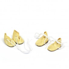 Ботиночки для кукол КЛ.20138 30мм цв.молочный уп.2 пары