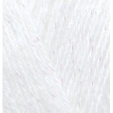 Пряжа для вязания Ализе Angora Gold Simli (5% металлик, 20% шерсть, 75% акрил) 5х100г/500м цв.055 белый