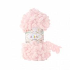 Пряжа для вязания Ализе Puffy (100% микрополиэстер) 5х100г/9.5м цв.639 светлая пудра