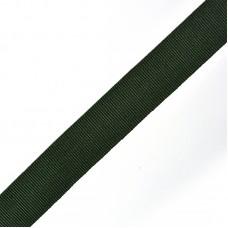 Тесьма TBY в рубчик (шляпная)  TGS20153S шир.20мм цв.т.зеленый  уп.50м