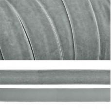 Лента бархатная TBY.LB2088 нейлон шир.20мм цв.серый уп.20м