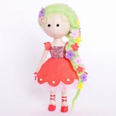 Набор для изготовления куклы из фетра с волосами из шерсти ПФ-1210 Цветочная фея