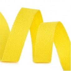 Тесьма киперная 15 мм хлопок 2,5г/см TBY.CT15110 цв.F110 желтый уп.50м