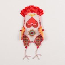 Набор для шитья и вышивания чехол на бутылку МП-19х16- 8319 На радость
