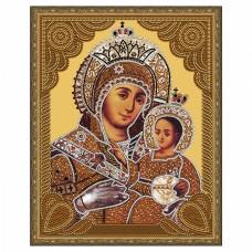 Картина 5D мозаика с нанесенной рамкой Molly KM0718 Вифлеемская Божия Матерь (15 цветов) 40х50 см