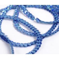 Пайетки на нитях 6мм Laser Bright TBY-FLKU06-LB цв.50102 св.синий уп.73.12м