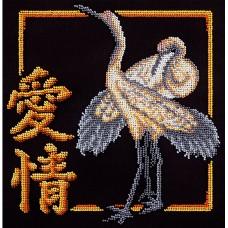 Набор для вышивания PANNA И-1980 Иероглиф Любовь 25 x 25 см