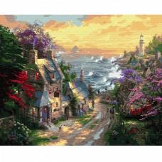 Картины по номерам Molly KH0650 Деревня у берега моря (28 цветов) 40х50 см