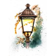Набор Цветной для изготовления картины со стразами LG034 Холодная осень 40х50