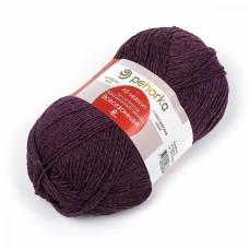 Пряжа для вязания ПЕХ Всесезонная (25% шерсть, 30% хлопок, 45%акрил) 5х100г/320м цв.191 ежевика