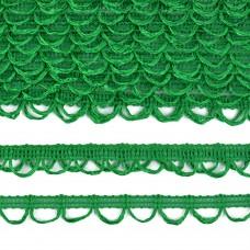 Тесьма отделочная UU цв.235 зеленый шир.18-19мм уп.16,45м