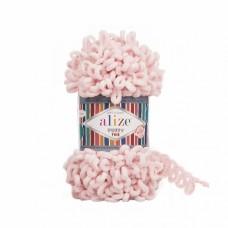Пряжа для вязания Ализе Puffy Fine (100% микрополиэстер) 5х100г/14м цв.639 светлая пудра
