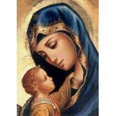 Алмазная мозаика на холсте ГРАННИ Ag891 Мадонна и дитя 27х38см