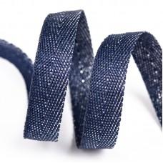 Тесьма киперная металлизированная 13 мм 90370 цв.синий с серебром уп.50м