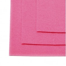 Фетр листовой жесткий IDEAL 1мм 20х30см FLT-H1 уп.10 листов цв.614 розовый